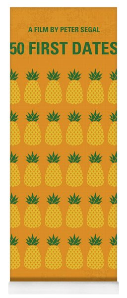 No696 My 50 First Dates Minimal Movie Yoga Mat