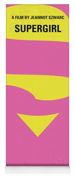 No720 My Supergirl Minimal Movie Poster Yoga Mat