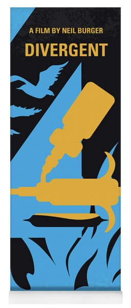 No727 My Divergent Minimal Movie Poster Yoga Mat
