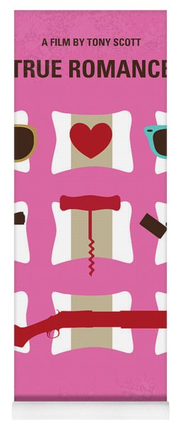No736 My True Romance Minimal Movie Poster Yoga Mat