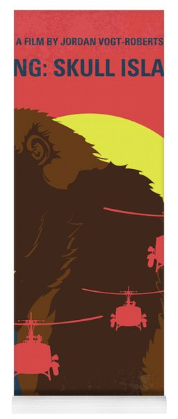 No799 My Skull Island Minimal Movie Poster Yoga Mat