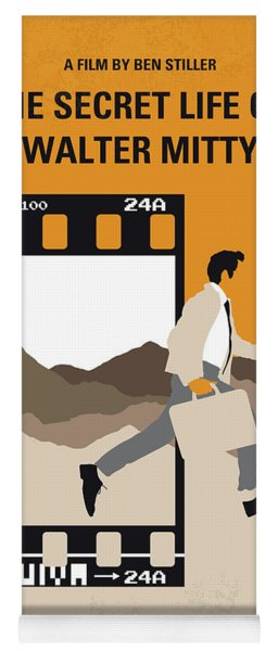 No806 My The Secret Life Of Walter Mitty Minimal Movie Poster Yoga Mat