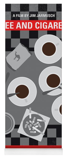 No808 My Coffee And Cigarettes Minimal Movie Poster Yoga Mat