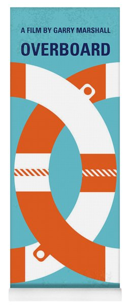 No815 My Overboard Minimal Movie Poster Yoga Mat