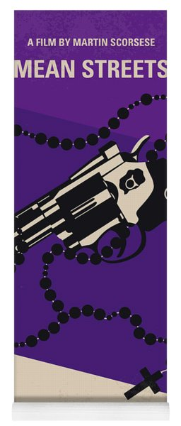 No823 My Mean Streets Minimal Movie Poster Yoga Mat