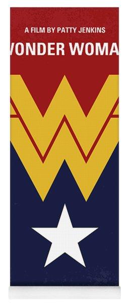 No825 My Wonder Woman Minimal Movie Poster Yoga Mat