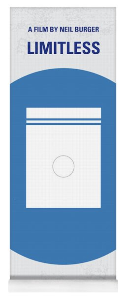 No828 My Limitless Minimal Movie Poster Yoga Mat