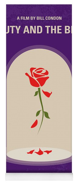 No878 My Beauty And The Beast Minimal Movie Poster Yoga Mat