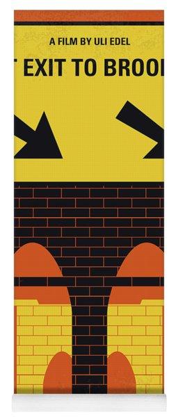 No879 My Last Exit To Brooklyn Minimal Movie Poster Yoga Mat