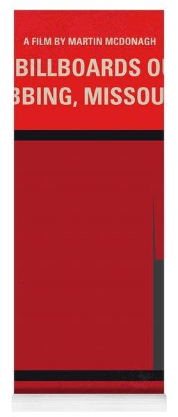 No900 My Three Billboards Minimal Movie Poster Yoga Mat