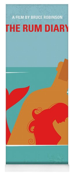 No925 My The Rum Diary Minimal Movie Poster Yoga Mat