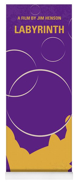 No928 My Labyrinth Minimal Movie Poster Yoga Mat