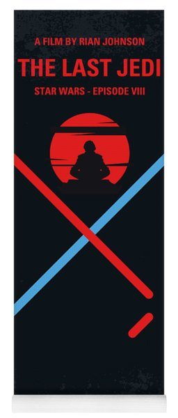 No940 My Star Wars Episode Viii The Last Jedi Minimal Movie Poster Yoga Mat