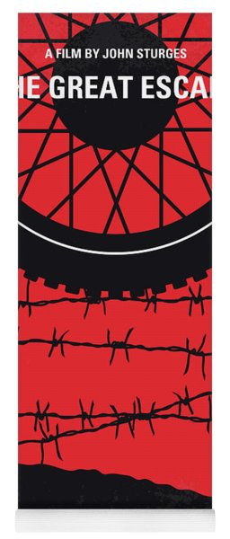 No958 My The Great Escape Minimal Movie Poster Yoga Mat