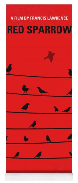No960 My Red Sparrow Minimal Movie Poster Yoga Mat