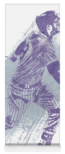 Nolan Arenado Colorado Rockies Water Color Art 1 Yoga Mat
