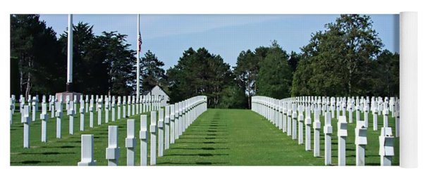 Normandy Memorial Cemetery - There Are No Words Yoga Mat