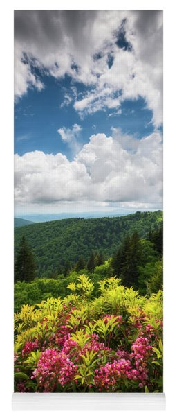 North Carolina Appalachian Mountains Spring Flowers Scenic Landscape Yoga Mat