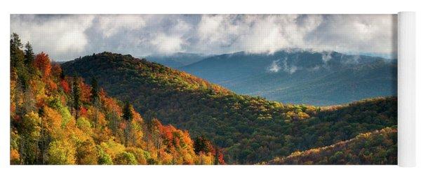 North Carolina Mountains Asheville Nc Autumn Sunrise Yoga Mat