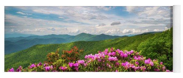 North Carolina Spring Flowers Mountain Landscape Blue Ridge Parkway Asheville Nc Yoga Mat