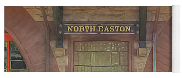 North Easton Train Station At Solstice Yoga Mat