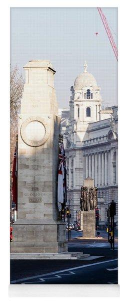 North Facade Of Cenotaph War Memorial Whitehall London Yoga Mat
