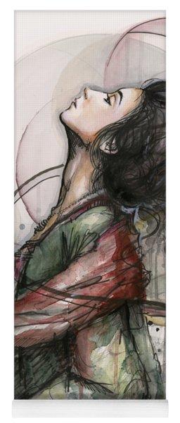 Beautiful Lady Yoga Mat