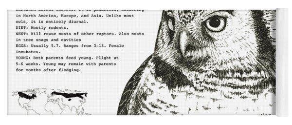 Northern Hawk-owl Infographic Poster Yoga Mat