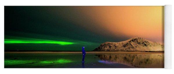 Northern Light In Lofoten, Nordland 4 Yoga Mat