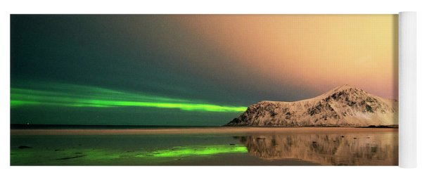 Northern Light In Lofoten Nordland 5 Yoga Mat
