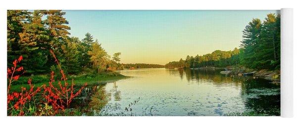 Northern Ontario Lake Yoga Mat