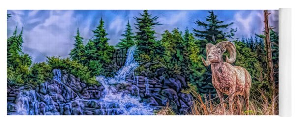 Yoga Mat featuring the digital art Northern Wilderness by Ray Shiu