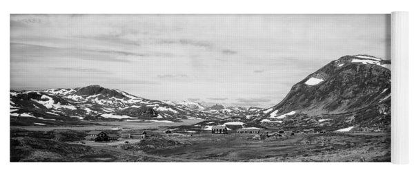 Norway Landscape In Black And White Yoga Mat