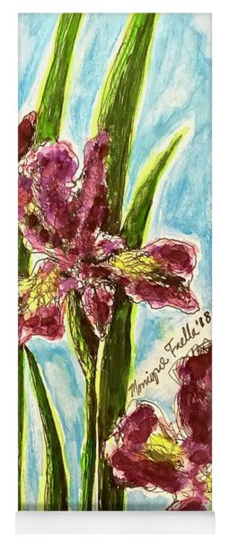 Nostalgic Irises Yoga Mat
