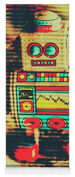 Nostalgic Tin Sign Robot Yoga Mat