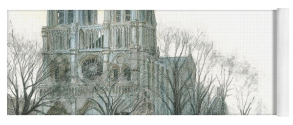 Notre Dame Cathedral In March Yoga Mat