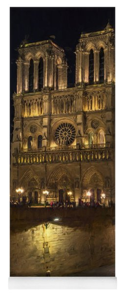 Notre Dame Night Painterly Yoga Mat