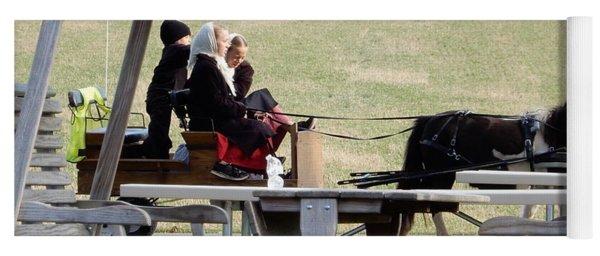 November Pony Cart Fun Yoga Mat