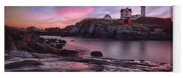 Nubble Lighthouse At Sunrise York Me Yoga Mat