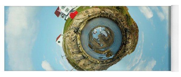 Nubble Lighthouse Little Planet  Yoga Mat