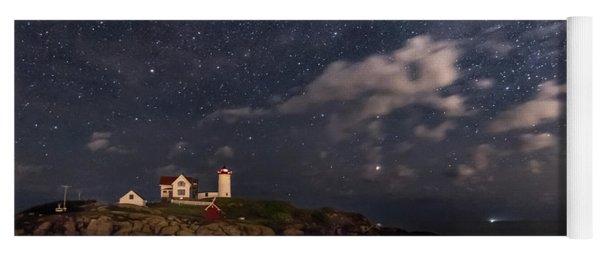 Nubble Lighthouse Under The Milky Way Yoga Mat