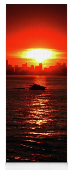 Nuclear Miami Sunset Yoga Mat