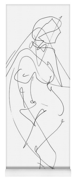 Nude Female Drawings 6 Yoga Mat