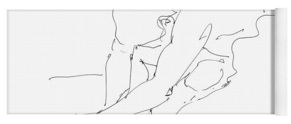 Nude Male Drawings 8 Yoga Mat