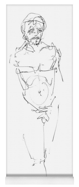 Nude Male Drawings 9 Yoga Mat