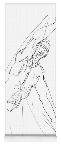 Nude_male_drawing_25 Yoga Mat