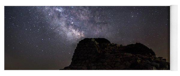 Nuraghe Of Sardinia Under The Stars Yoga Mat