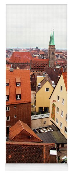 Nuremberg Cityscape Yoga Mat