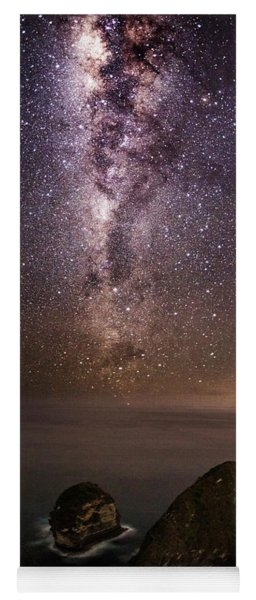 Yoga Mat featuring the photograph Nusa Penida Beach At Night by Pradeep Raja Prints