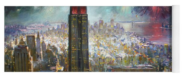 Nyc. Empire State Building Yoga Mat